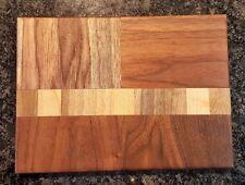 Wood Cutting Board 9.5X7X.5 Handcrafted Artisan Wood NEW Walnut Maple
