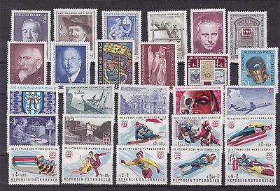 Austria Austria 1973/4 27 Stamps,mnh M739 Fine Quality Stamps