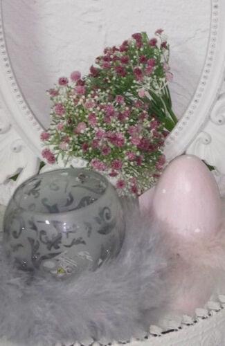 Tealight Holder Candle Holder Wind Light Tealight Glass Grey Shabby Vintage Cottage