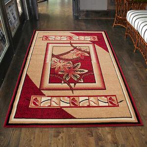 teppich wohnzimmer modern floral rot beige l ufer s xxl. Black Bedroom Furniture Sets. Home Design Ideas
