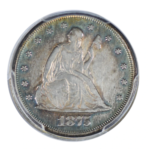 1875 Seated Liberty Twenty Cent Piece PCGS Very Fine Detail