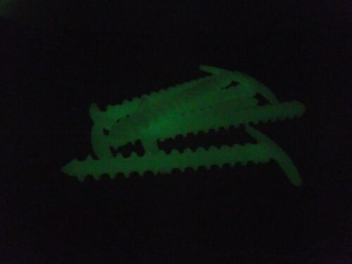 6 Pack Glow In The Dark Luminous Safety Screw Tent Peg Firm Hold In Soft Ground