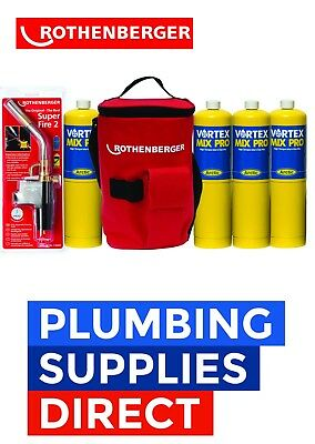 SuperFire 2 carte MAPP Torche Plombiers Kit Rothenberger outil Chaud Sac