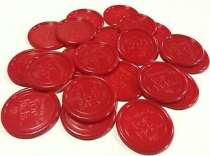 SEQUENCE-FOR-KIDS-Replacement-Game-Parts-Pieces-Complete-set-of-21-Red-Chips