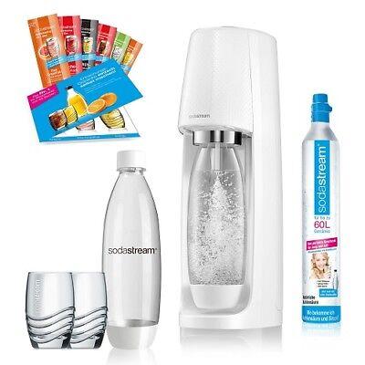 Sodastream Wassersprudler Easy Weiss PET inkl 60l Zylinder Trinkwassersprudler