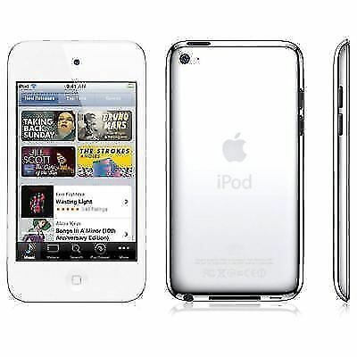 Apple iPod Touch 4th Generation White (16GB) - w/ Accessories (C)
