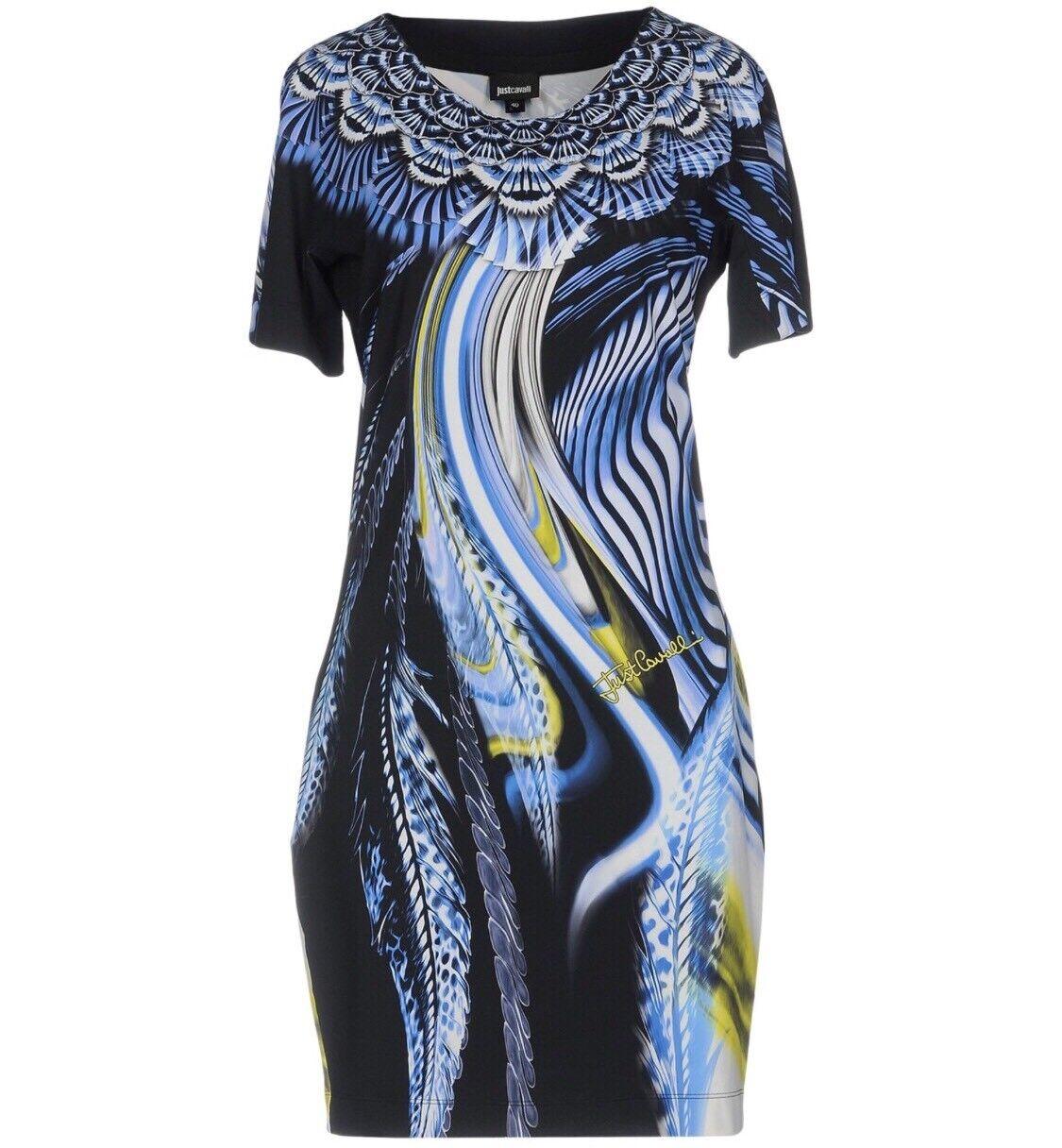 Genuine Just Cavalli Floral Print Jersey Dress Size 6UK XS RRP