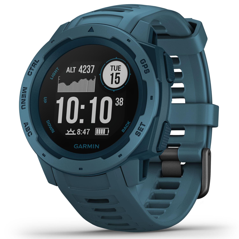 Garmin Watch Instinct GPS Fitness Heart Steps Watch Lakeside bluee