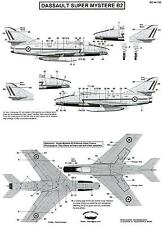 Berna Decals 1/48 DASSAULT SUPER MYSTERE B2 STENCIL DATA