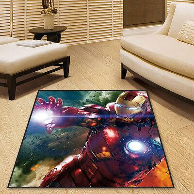 Iron Man Marvel Comics Round//Square Floor Rug Carpet Room Doormat Non-slip Mat