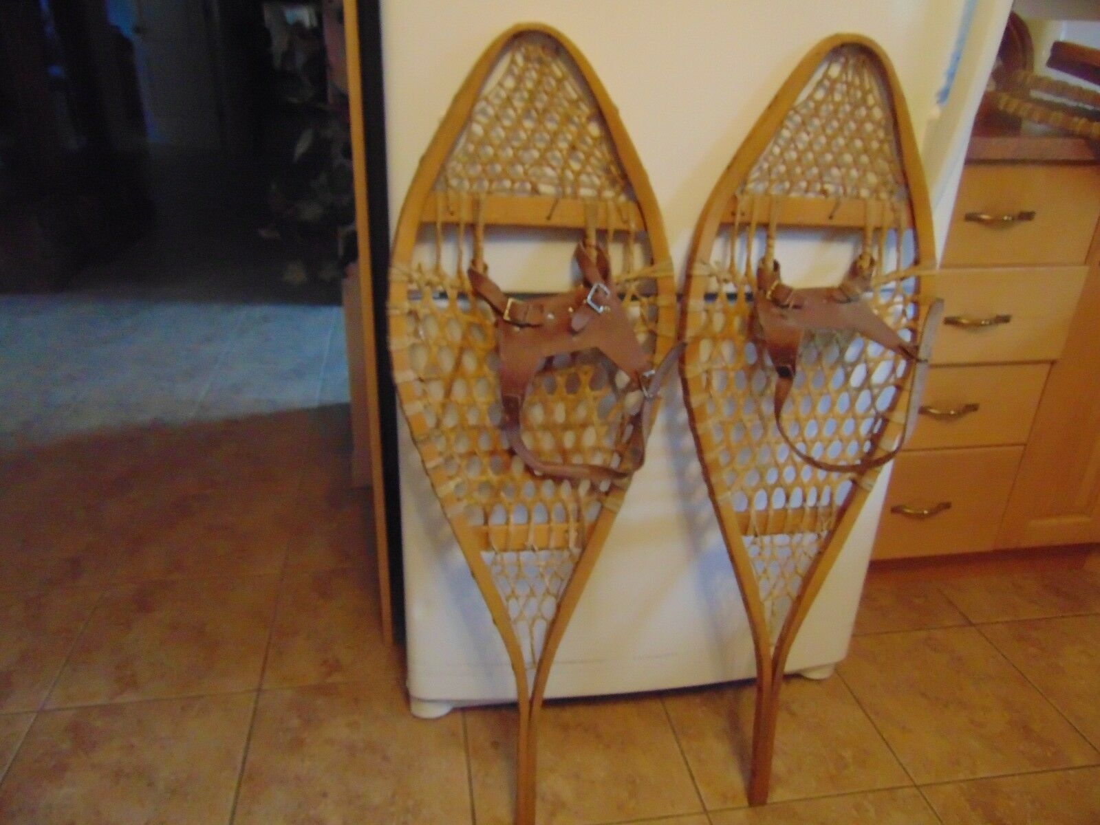Vintage  snowshoes    nice    14 x  42    nice      limited edition