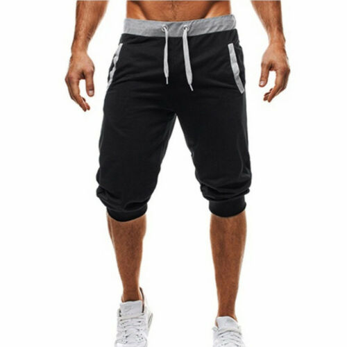 Men Cargo Jogger Shorts Pants Sports Trousers Cropped Sweatpants Jogging Bottoms