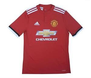Manchester United 2017-18 ORIGINALE Maglietta (eccellente) XL Ragazzi Calcio Jersey
