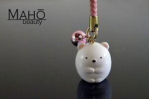CUTE SUMIKKO GURASHI Japanese SHIRO KUMA Bear bell keychain phone strap charm