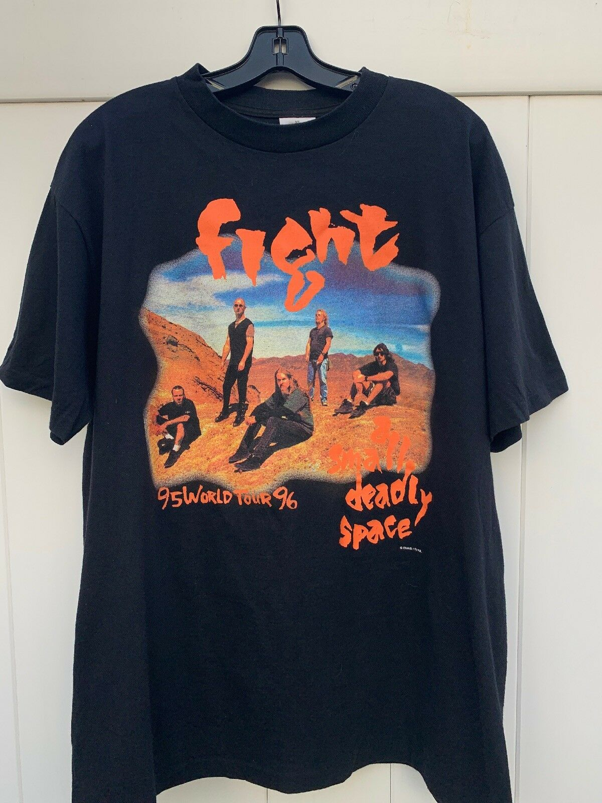cd26a8a9 Vintage 90s A Small Deadly Space World Tour 95 96 Size XL T-Shirt Fight  nsqbfi115-T-Shirts