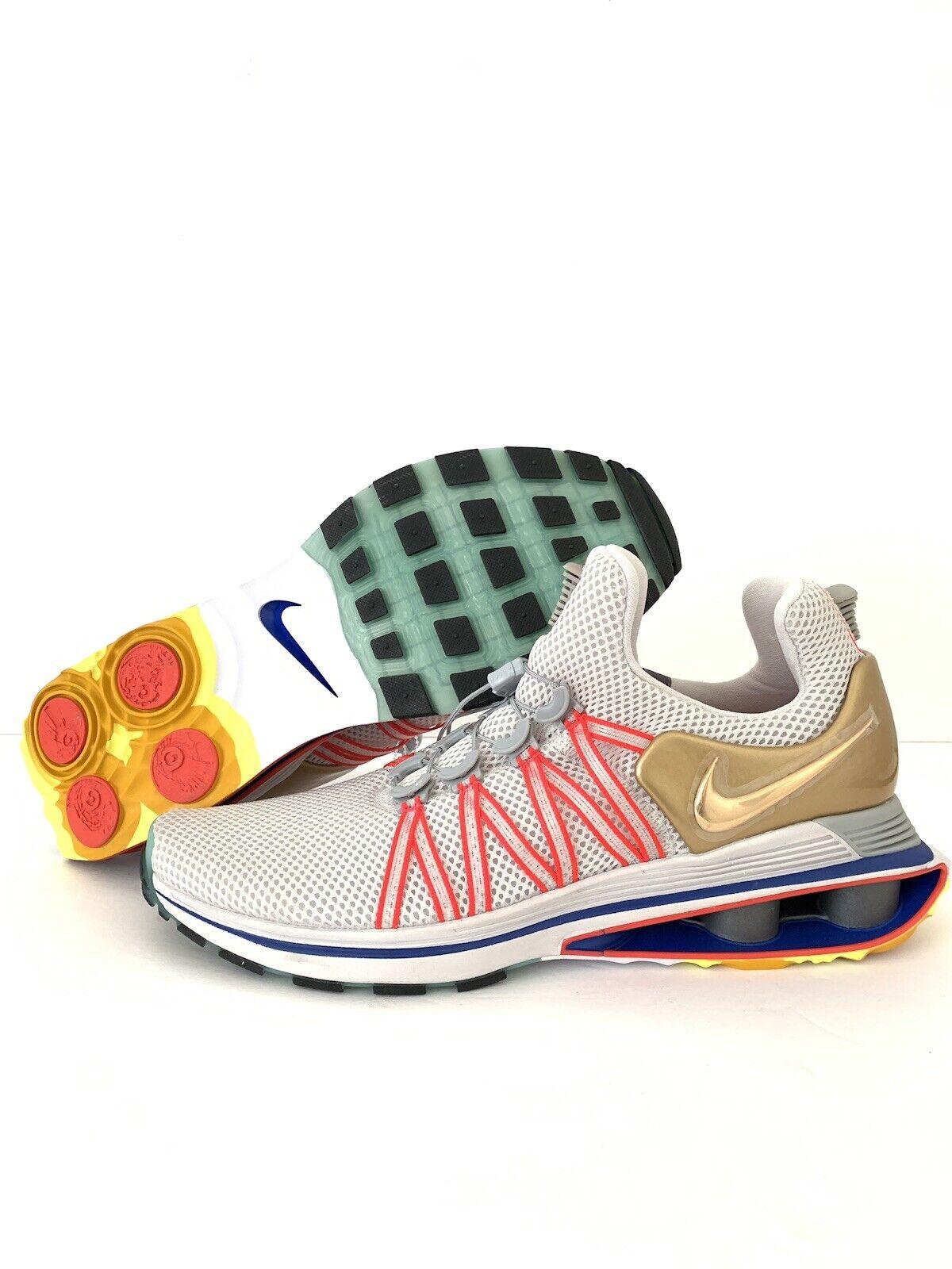 Nike Shox Gravity herr springaning skor Storlek Vast grå Metallic Metallic Metallic guld AQ8553 009  lagra på nätet