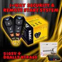 Viper 5105v 2016 Model 1 Way Car Alarm And Remote Start Viper + Dball2 5105v