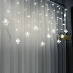 3m x 1m 128 led indooroutdoor christmas string fairy curtain lights image is loading 3m x 1m 128 led indoor outdoor christmas aloadofball Image collections