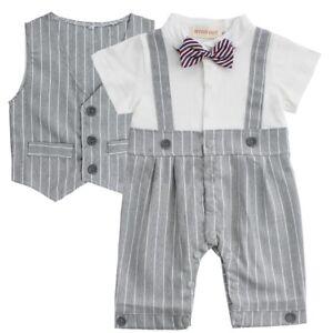Newborn-Baby-Boy-Gentleman-Formal-Suit-Romper-Vest-Wedding-Party-Outfit-Costume