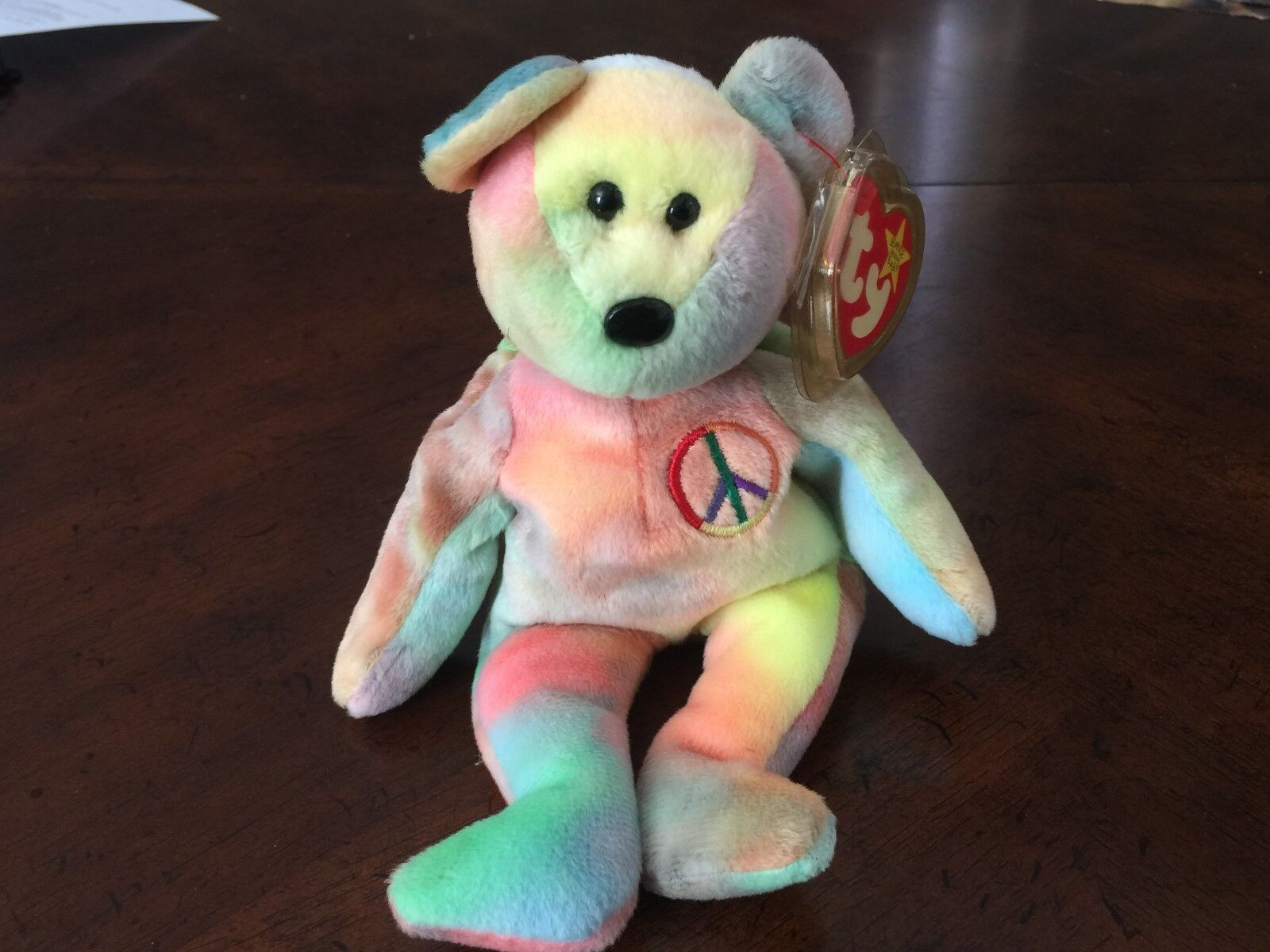 1996 Peace Beanie Baby w multiple errors. Top 10 most collectible