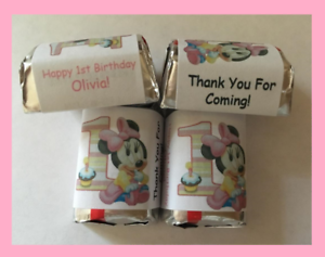 30 Beauty and The Beast Hershey Nugget Wrappers Favors Stickers party Birthday