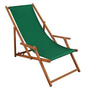 Chaise Longue Vert Bois Lit Soleil Transat Pour