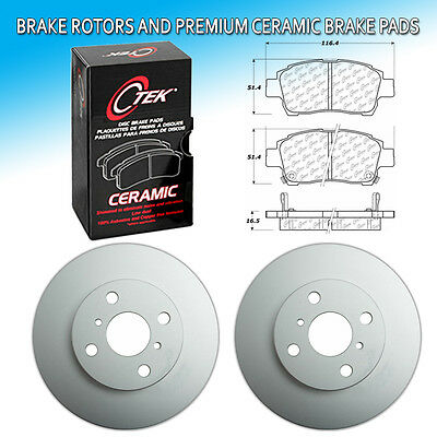 CK Fits Toyota Prius 1.5L Front L+R Brake Rotors/&Premium Ceramic Pad Set