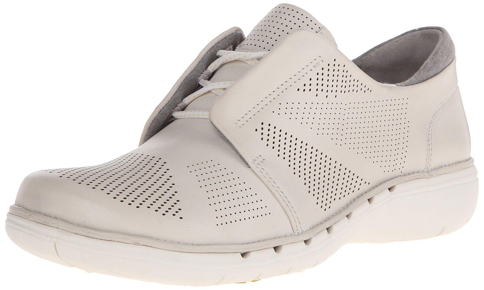 Clarks Mujer Un Voltra Caminar Zapato De Cuero blancoo 6.5 M US