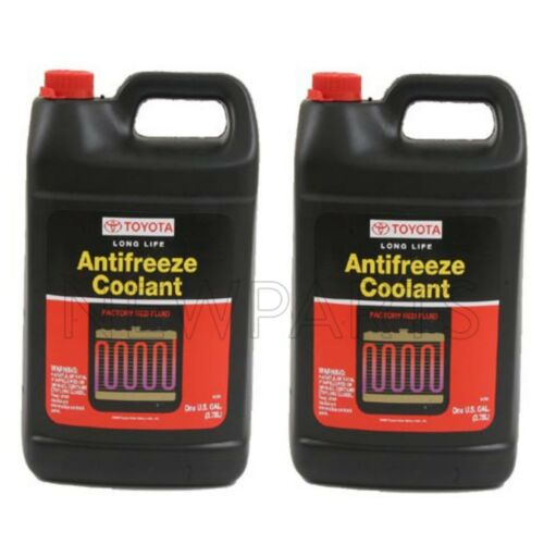 2 Gallons Pack Genuine For Toyota Red Long Life Engine Coolant Antifreeze Fluid