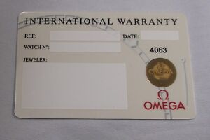 NOS-Open-Blank-White-OMEGA-Watch-International-Warranty-Card-w-Source-Code-ONLY