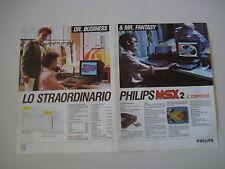 advertising Pubblicità 1986 COMPUTER PHILIPS MSX 2