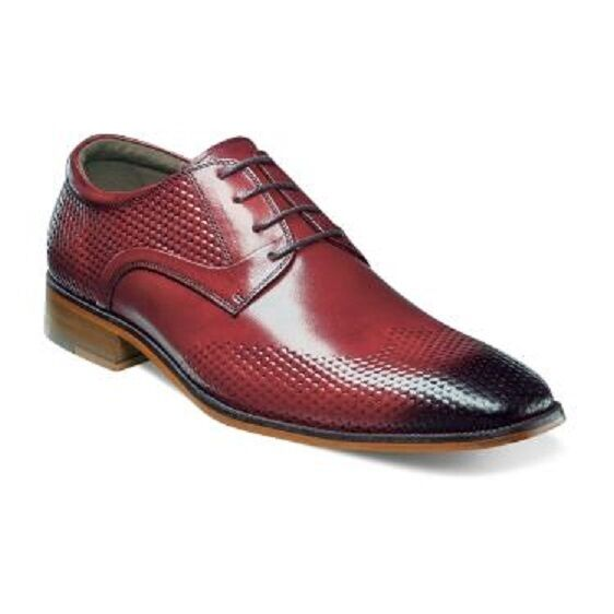 il più alla moda Stacy Adams Uomo scarpe Kallan rosso Plain Plain Plain Toe Oxford Buffalo Leather 25079-600  disponibile