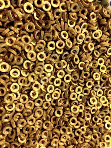 Brass Knurled Thumb Nut #10-32 10-32 Qty 100