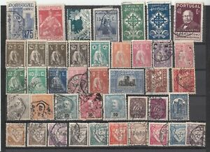 A-selection-of-early-Portugal-postage-stamps