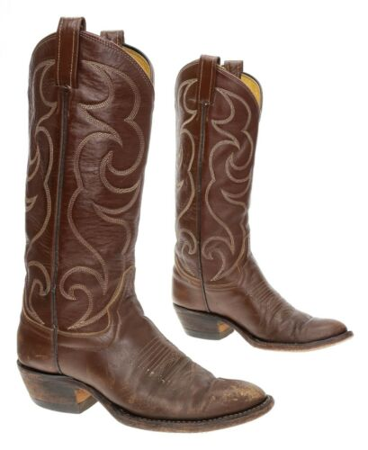 CUSTOM Cowboy Boots 6 D Mens Leather Western Boots