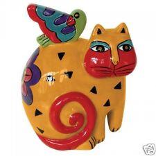Laurel Burch Kindred Spirit Cat & Dove Brights Ceramic Figurine #26032 New