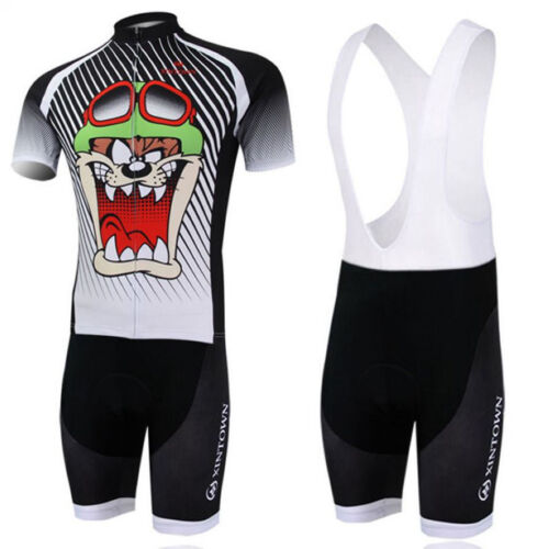Bib Shorts Bicycle Wear Suit Cycling Kit Cartoon Bike Jersey Padded Cycling