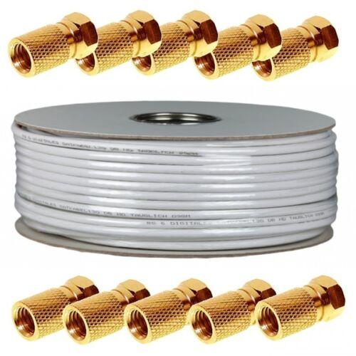 100 m Satkabel 120 dB Sat digital Antennenkabel Koaxialkabel Kabel 4-fach HD UHD