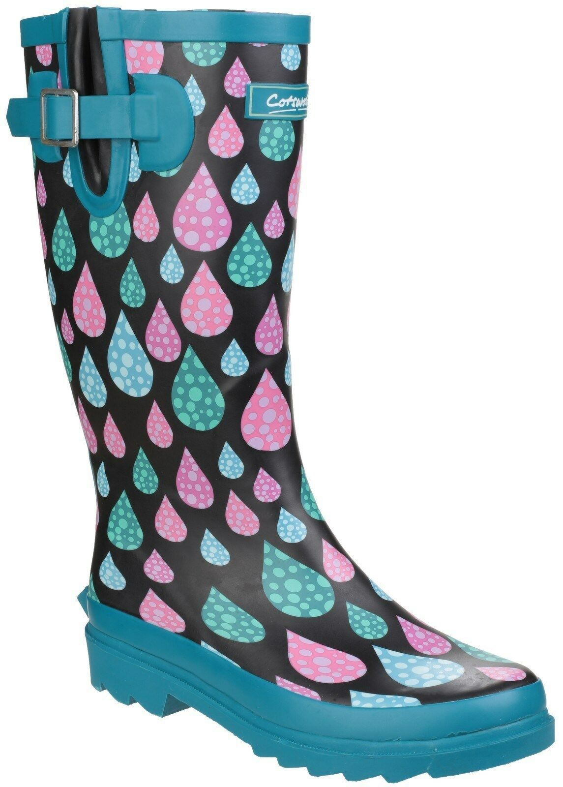 Cotswold Burghley Waterproof Pull on Wellington Boot (Raindrop)