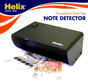 Helix UV Light Fake/Counterfeit Money Bank Paper/Polymer Note Detector/Checker