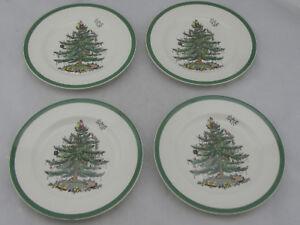 NEW-Spode-Christmas-Tree-7-5-8-034-Bread-Plate-Set-of-4-35-ea