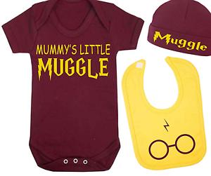 Mummy/'s Little hijos Harry Potter Inspirado Bebé Chaleco Sombrero Y Babero Set Bebé Regalo