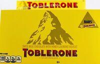 Toblerone Swiss Milk Chocolate Honey Almond Nougat, 6 9 12 or 18 Bars, 100g each