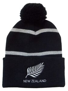 6062c4f45eb Image is loading New-Zealand-Rugby-Bobble-Hat-Made-in-the-