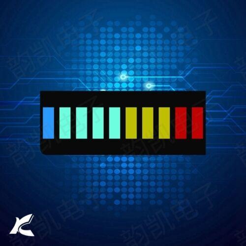 5PCS 10 Segment LED Bargraph Light Display Red Yellow Green Blue NEW