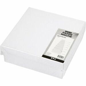 100% Vrai Creativ-papier Mâché Boîte Carrée Lot De 7 Tailles Assorties Blanc Boîtes-afficher Le Titre D'origine