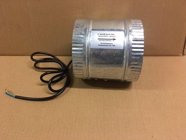 Axial Rohrventilator Kanallüfter Zuluft ABlauft mit 2X Verbinder Nippel 150 mm     | Exquisite Verarbeitung  | Haltbar  | Niedriger Preis