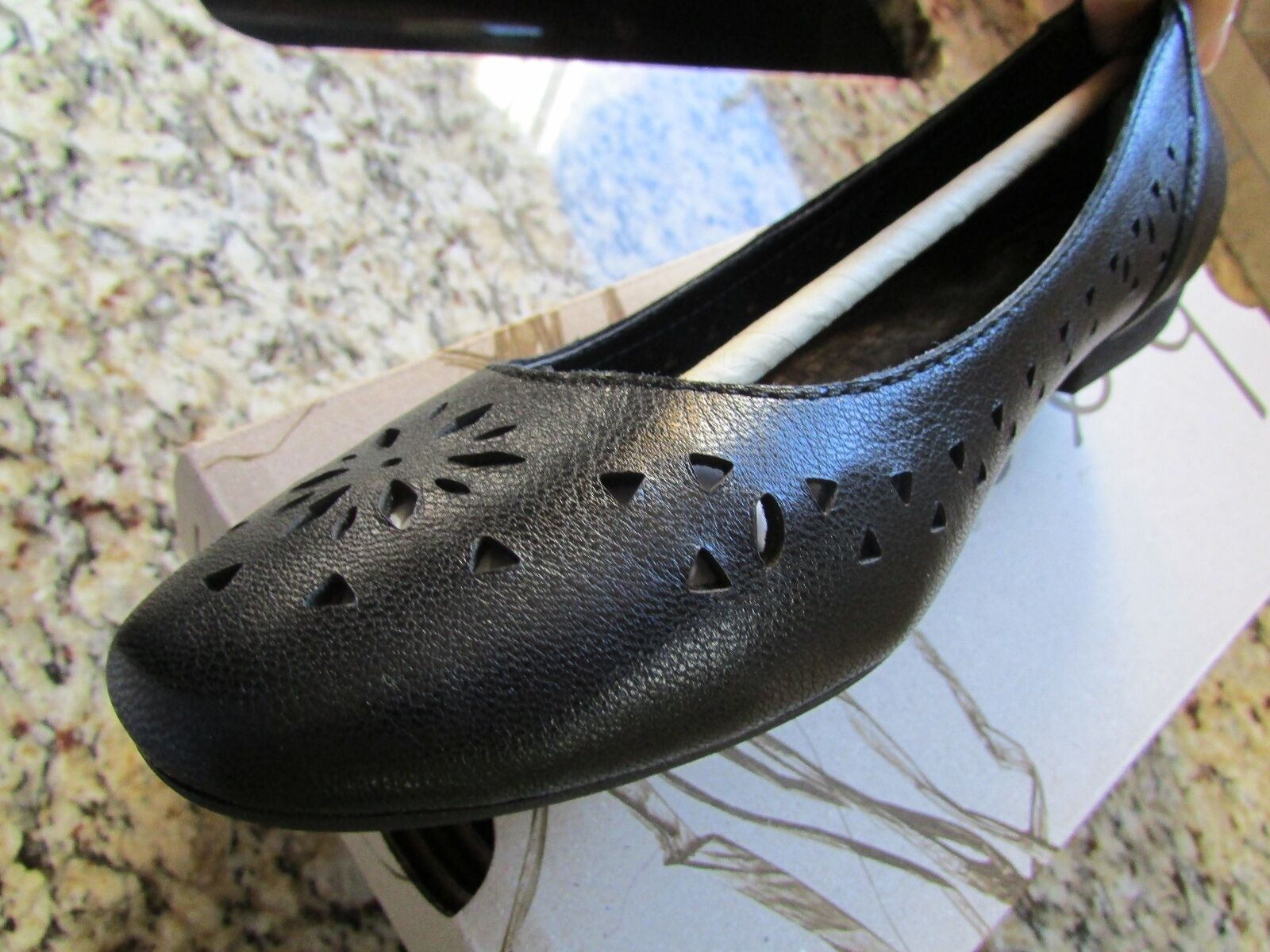 NEW BORN B.O.C noir FLATS LOAFERS chaussures femmes femmes femmes 7 COSIMA LEATHER FREE SHIP 691dc0