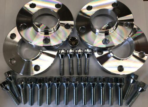 Boulons Audi 66.6 M14X1.5 argent serrures 4 x 20 mm Argent Roue Alliage Entretoises