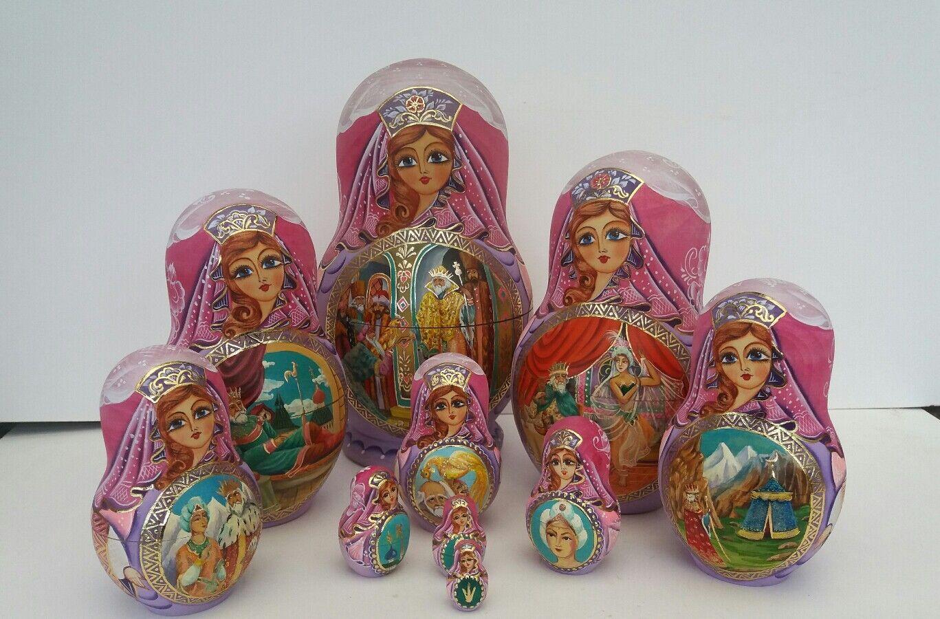 Russian Matryoshka-Cuento De Hadas Muñeca de coleccionista - 10 juego de muñeca